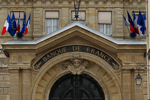 Façade de la Banque de France à Paris.